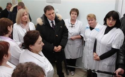 Губернатор посетил Воловскую центральную районную больницу