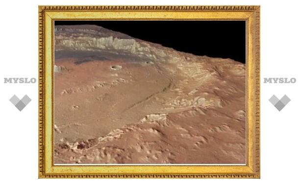 Mars Express сфотографировал дельту в кратере Эберсвальде