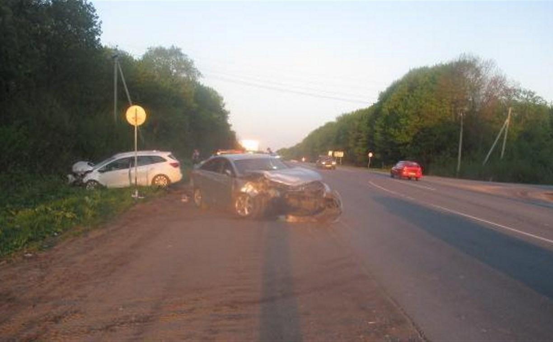 В ДТП под Тулой пострадал мужчина
