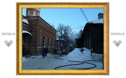 Пожар рядом с храмом Серафима Саровского в Туле ликвидирован
