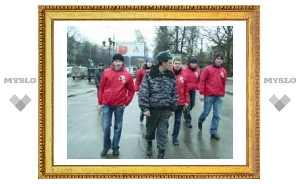 Тульская молодежь вышла патрулировать улицы