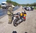 На дороге «Тула-Новомосковск» столкнулись МАН и мотоцикл