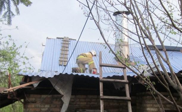 Спасатели продолжают восстановительные работы в Узловском районе