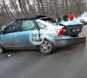Под Тулой водитель Ford Focus врезался в дерево