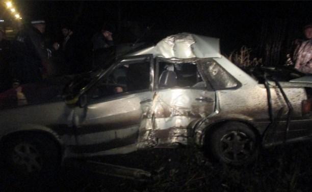В Новомосковске водитель ВАЗ-21150 на летней резине врезался в дерево
