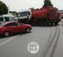Новомосковское шоссе в Туле перекрыто из-за ДТП с бензовозом