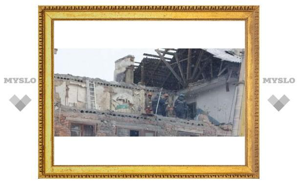 В Ефремове взорвался дом