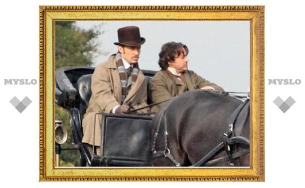 """Опубликованы первые фото со съемок """"Шерлока Холмса 2"""""""