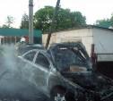 В посёлке Товарковский сгорел «Мицубиси Лансер»