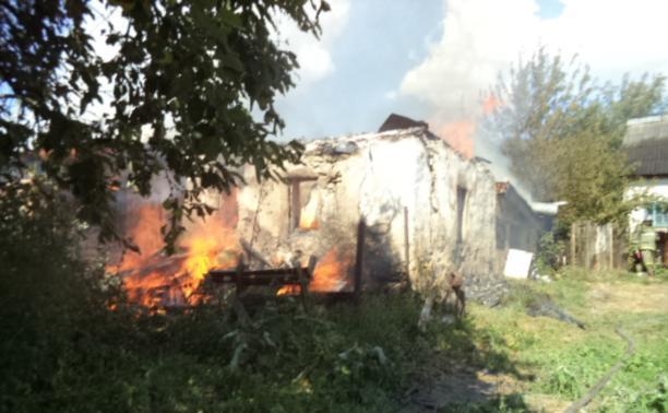 В Щёкинском районе при пожаре пострадал человек