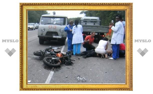 Под Тулой погиб мотоциклист