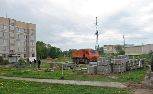 В Туле начались работы по комплексному благоустройству дворов