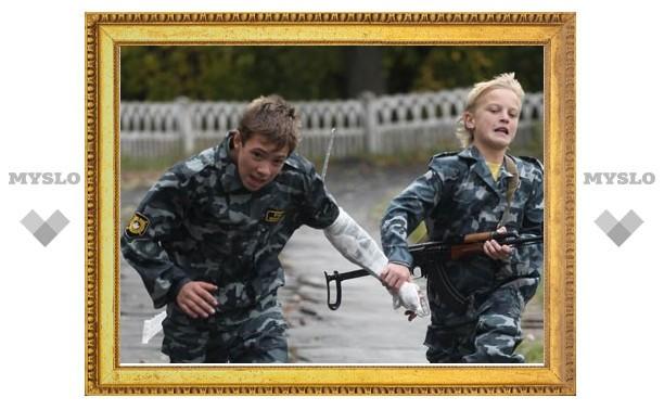 Тульский спецназ устроил детские соревнования