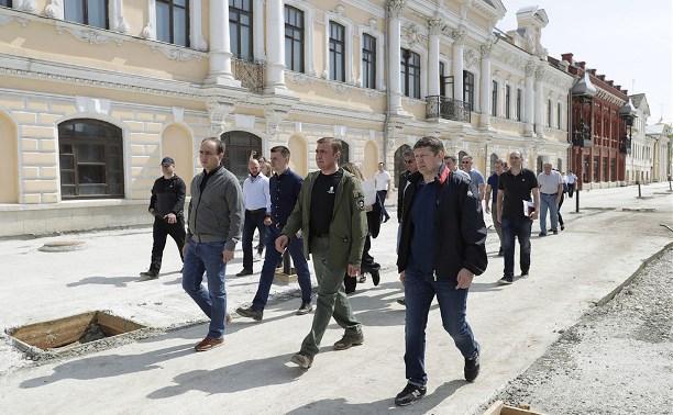 Алексей Дюмин проинспектировал работы в музейном квартале Тулы