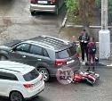 На ул. Болдина в Туле мотоциклист влетел под кроссовер