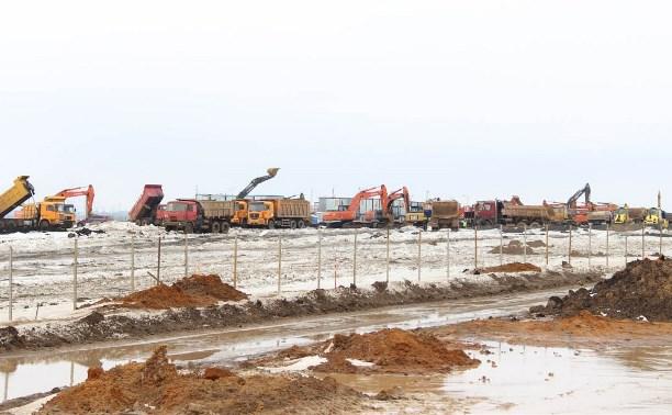 В индустриальном парке «Узловая» готовятся к строительству свайного поля