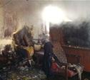 В Щёкино загорелся частный дом