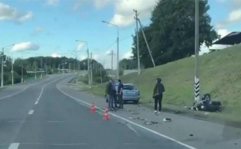 В Щекинском районе в двойном ДТП погиб мотоциклист