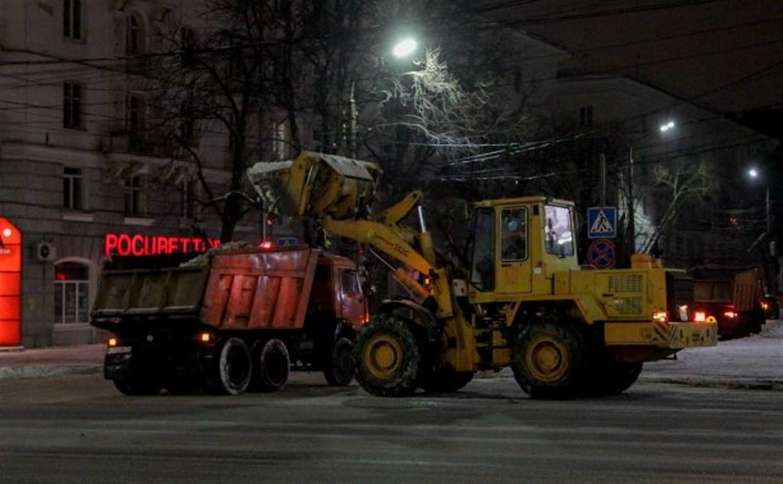 Ночью тульские улицы будут расчищать 115 единиц техники