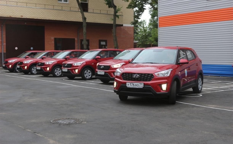 Тульские спасатели получили шесть новых кроссоверов Hyundai