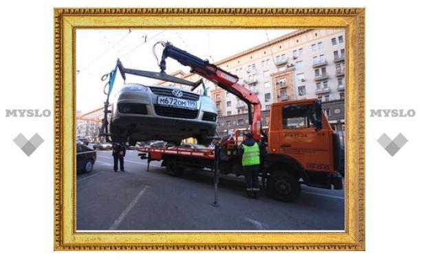 За сутки с Тверской улицы эвакуировали 330 машин