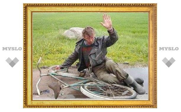 Под Тулой вор катался на похищенном велосипеде на глазах у хозяина