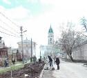 На Благовещенской улице высадили берёзовую аллею