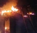 В Дубенском районе сгорела баня