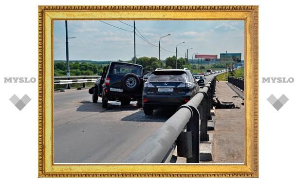 """УАЗ """"Патриот"""" протаранил Lexus"""