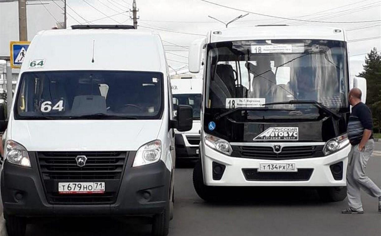 В Туле на ул. Вильямса водители маршрутки и автобуса устроили разборки из-за пассажиров