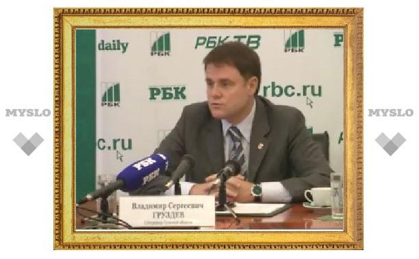 Владимир Груздев рассказывает о развитии Тульской области