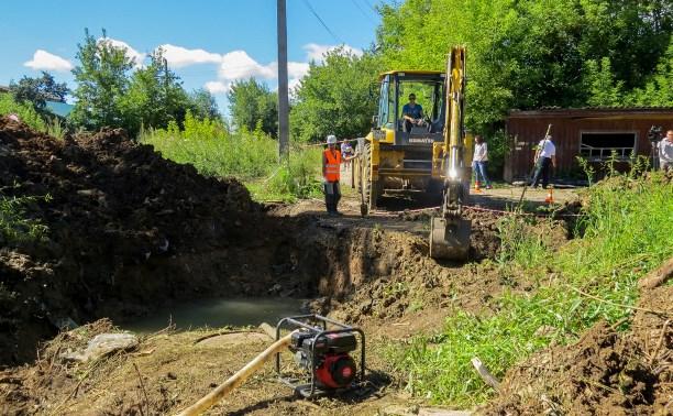 В Обидимо и поселке Ленинский ремонтируют водоснабжение