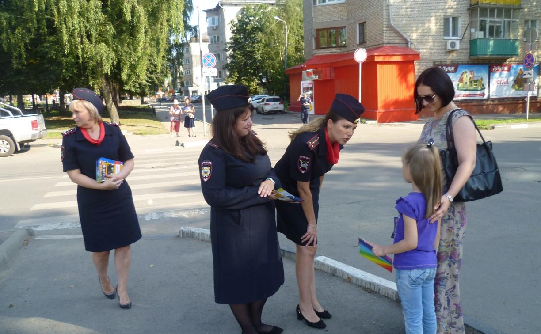 В Туле сотрудники ГИБДД проверили юных пешеходов