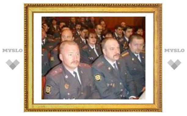 Тульских милиционеров поблагодарили в МВД