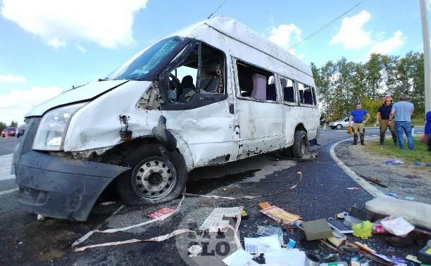 В ДТП с маршруткой «Тула – Алешня» пострадали 10 человек