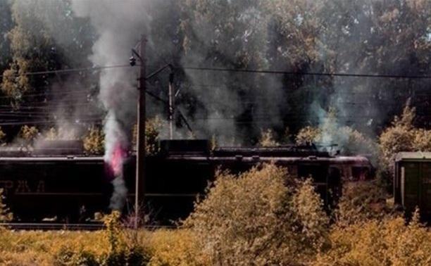 На участке, где горел локомотив, возобновлено движение поездов