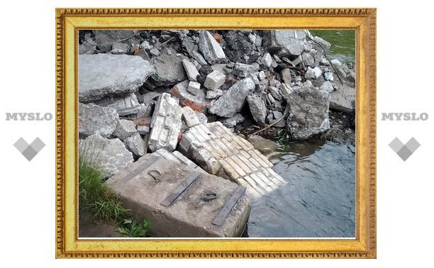 В Тулицу свалили кучу камней