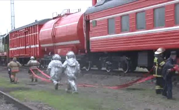 Тульское УФСБ провело антитеррористические учения на железной дороге в Узловой