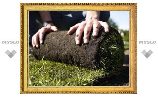 В Туле затруднена укладка газонов