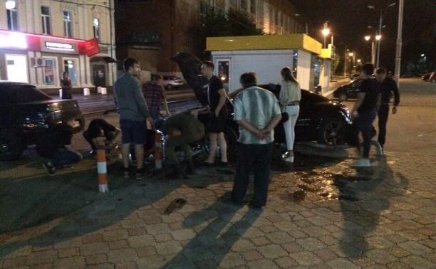 Ночью в центре Тулы пьяный водитель на «Ауди» устроил ДТП