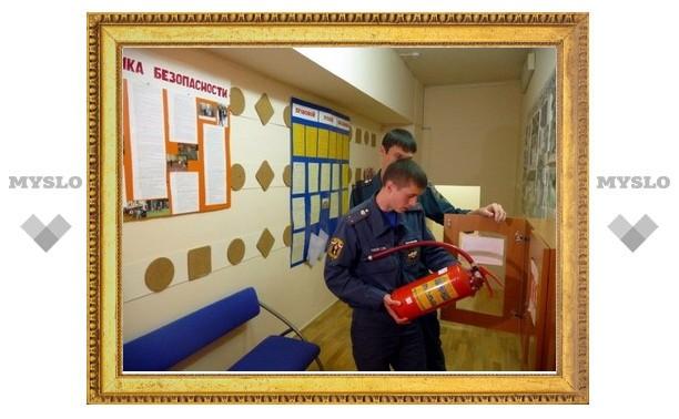 В Туле пожарные проводят приемку школ к 1 сентября
