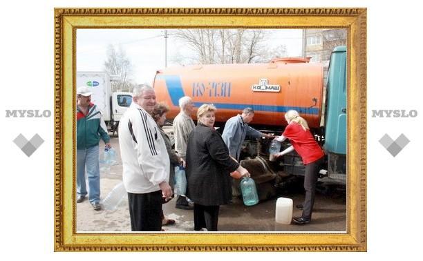 В поселке Мясново в Туле восстановили водоснабжение