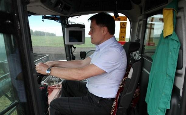 Владимир Груздев проверил ход уборочной кампании-2015