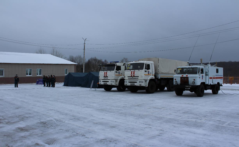 На федеральных трассах в Тульской области МЧС развернуло 10 пунктов обогрева