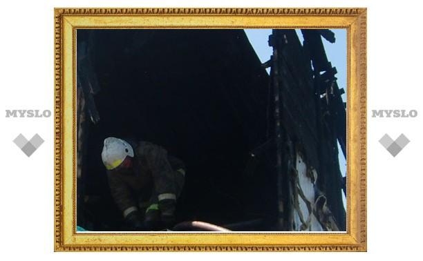 Во время пожара под Тулой погибли два человека