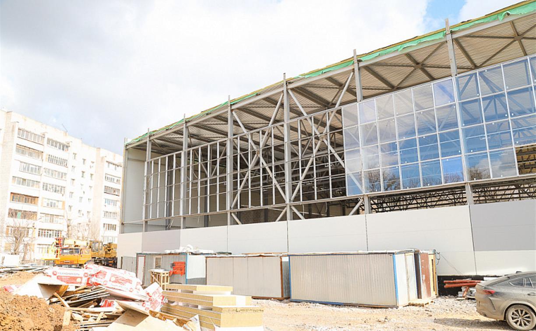 Манеж на Косой Горе строится с отставанием: глава администрации Тулы поручил ускорить работы