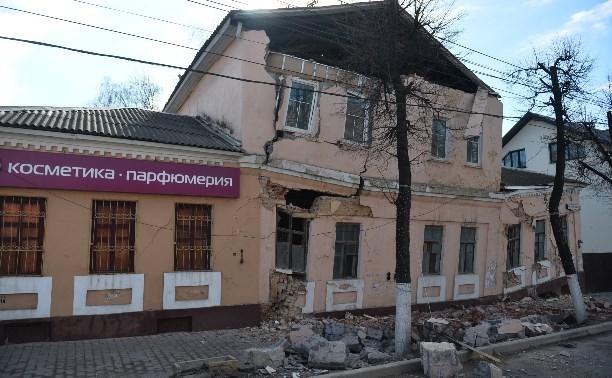 В Туле восстановят рухнувший на улице Октябрьской дом