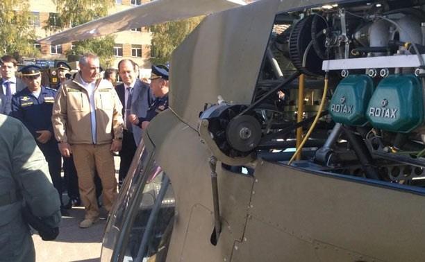Рогозин в Туле осмотрел новую боевую технику ВДВ