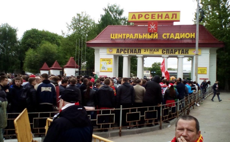 Фанаты «Спартака» пытались отобрать билеты у перекупщиков в Туле