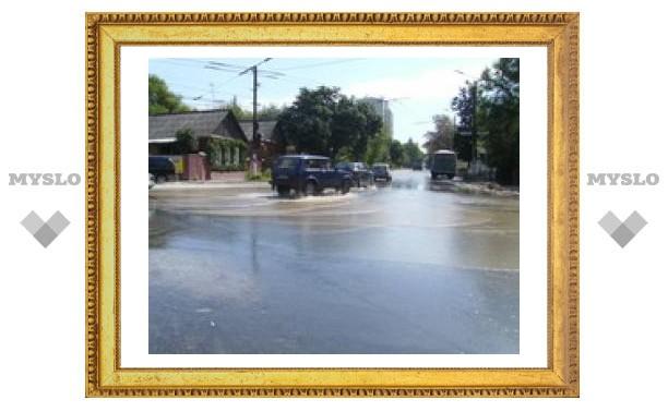 В Туле затопило две улицы!